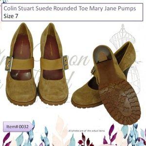 Colin Stuart Tan Suede Mary Jane Pumps NWOT Size 7
